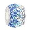 Swarovski Elements Bead Ice blau  925er Silber CarloBiagi Beads Silberbeads BBSCR03B